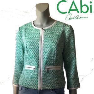 CAbi Cover Tweed Cropped Jacket Blazer 726
